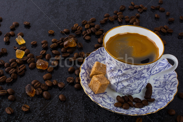 China cup of espresso coffee Stock photo © TasiPas