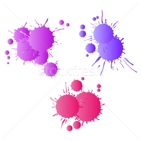 Red purple lilac watercolor paint drops  Stock photo © TasiPas