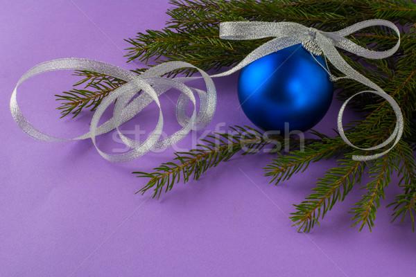 クリスマス 飾り ライラック 深い 青 ボール ストックフォト © TasiPas