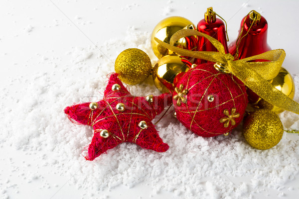 Christmas red and gold ornament  Stock photo © TasiPas