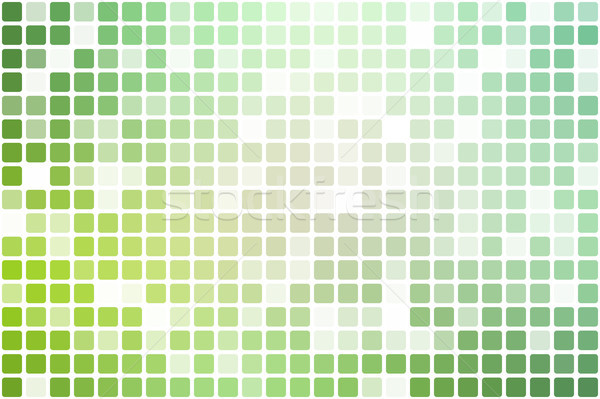 Light green shades occasional opacity mosaic over white   Stock photo © TasiPas