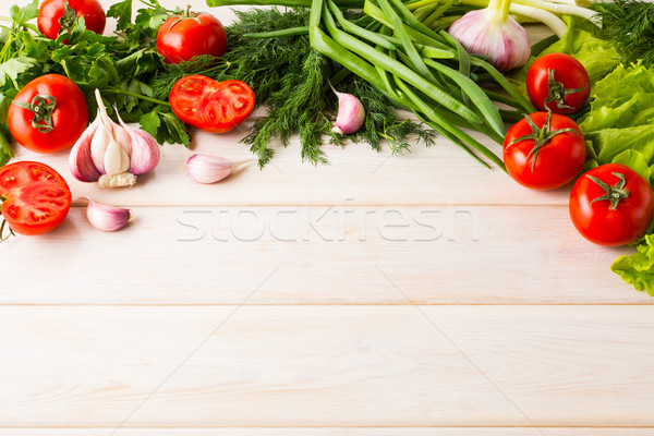 Fresh vegetables background, place for text  Stock photo © TasiPas