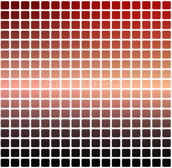Red orange purple rounded mosaic background over white square Stock photo © TasiPas