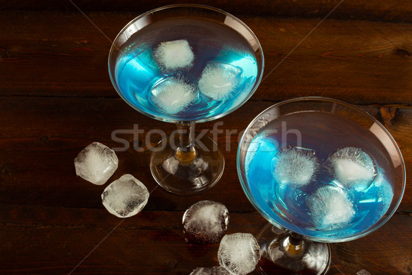 Cocktail Blue Lagoon top view Stock photo © TasiPas