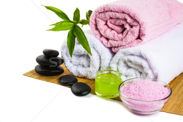 Spa treatments isolated on white Stock photo © TasiPas