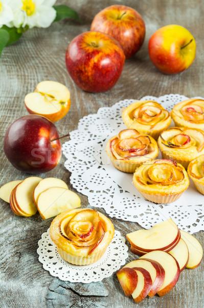 Puff apple shaped roses Stock photo © TasiPas