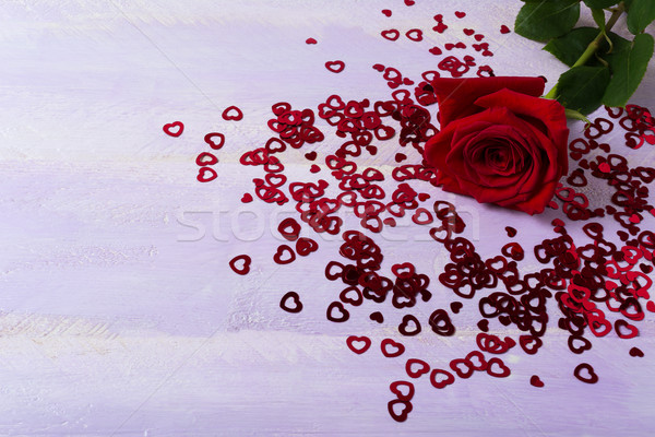 Aumentó San Valentín día símbolos lila elegante Foto stock © TasiPas