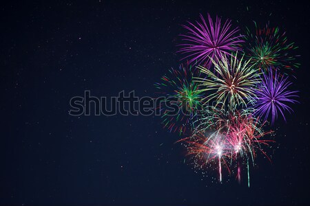 Purple сирень красный зеленый празднования фейерверк Сток-фото © TasiPas