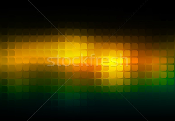 Brown orange green abstract rounded mosaic background Stock photo © TasiPas
