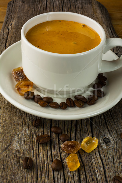 Coffee cup on the wooden background, vertical Stock photo © TasiPas