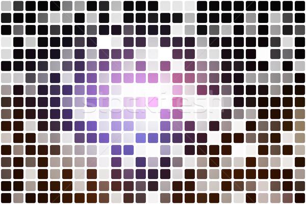 Purple brown black occasional opacity mosaic over white   Stock photo © TasiPas