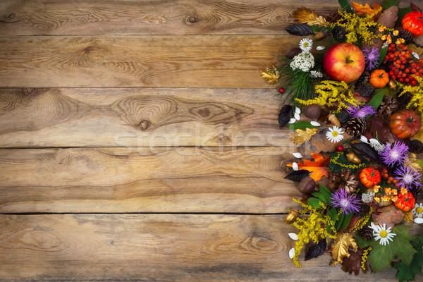 Ringraziamento giallo viola saluto zucca Foto d'archivio © TasiPas