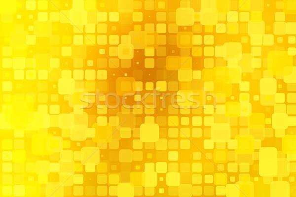 Bright golden yellow glowing various tiles background  Stock photo © TasiPas