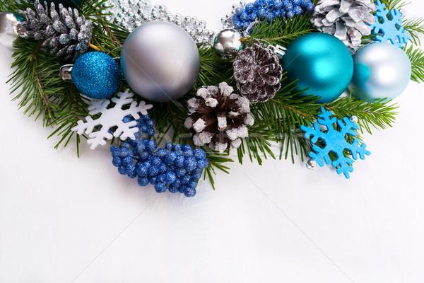 Natale argento blu turchese bianco Foto d'archivio © TasiPas