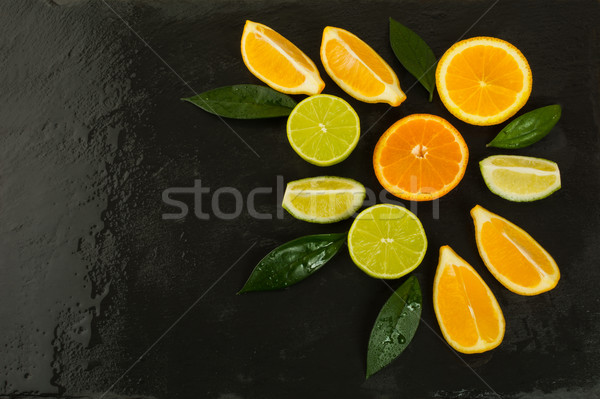 Alimentação saudável cítrico preto alimentos frescos maduro fruto Foto stock © TasiPas