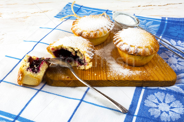 Stock photo: Confiture pie on the cutting board