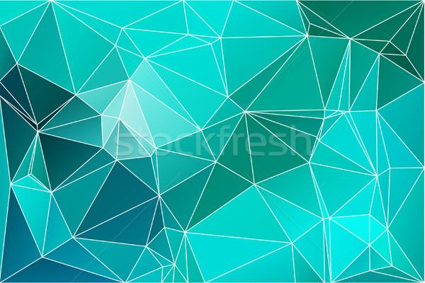 Turquoise green geometric background with mesh. Stock photo © TasiPas