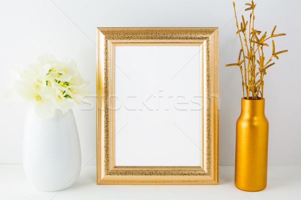 золото кадр ваза слоновая кость Сток-фото © TasiPas