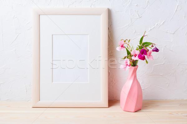 Purple Полевые цветы розовый ваза Сток-фото © TasiPas