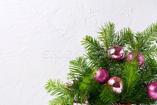 Navidad tarjeta de felicitación brillo magenta rosa saludo Foto stock © TasiPas