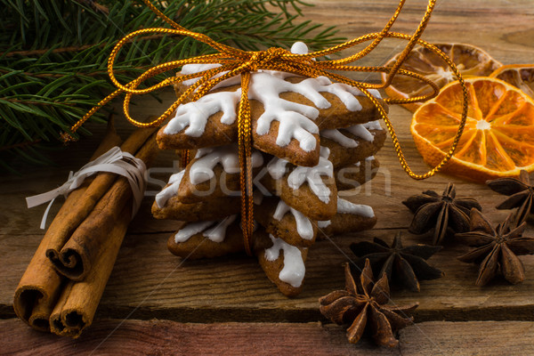 Gift icing gingerbread  Stock photo © TasiPas