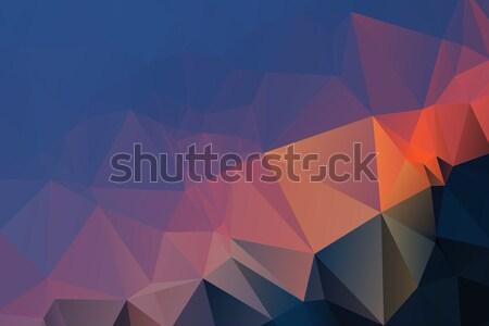 Kék piros szürke alacsony absztrakt terv Stock fotó © TasiPas