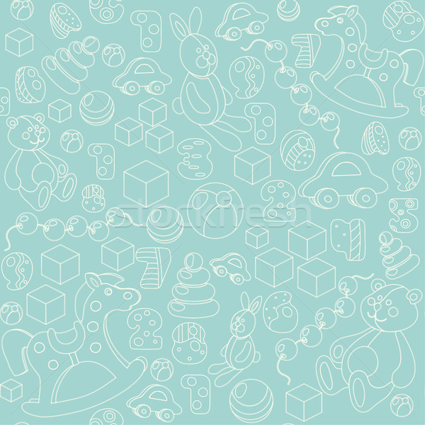 Kids toys silhouette seamless pattern Stock photo © TasiPas