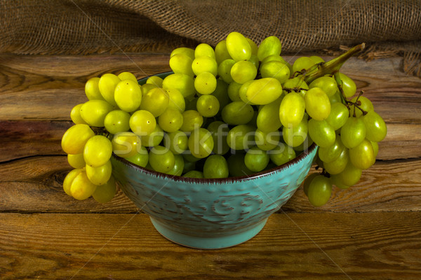 white grapes on dark wooden background  Stock photo © TasiPas