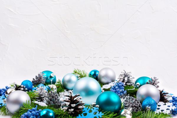 Noël argent pâle bleu turquoise Photo stock © TasiPas