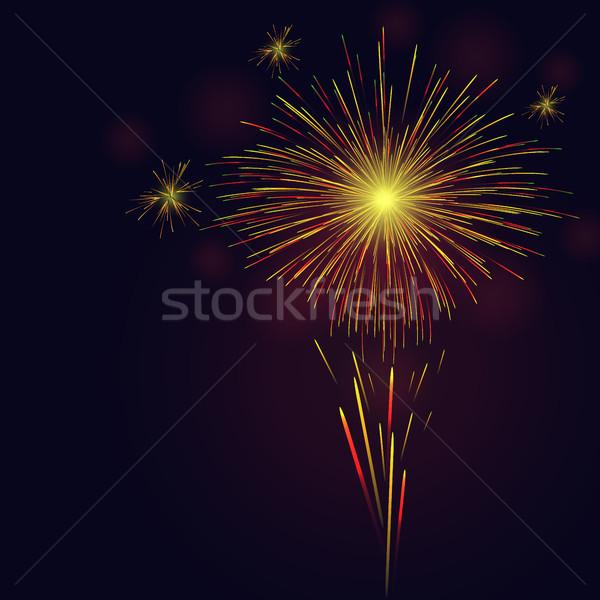 お祝い ベクトル 赤 ストックフォト © TasiPas