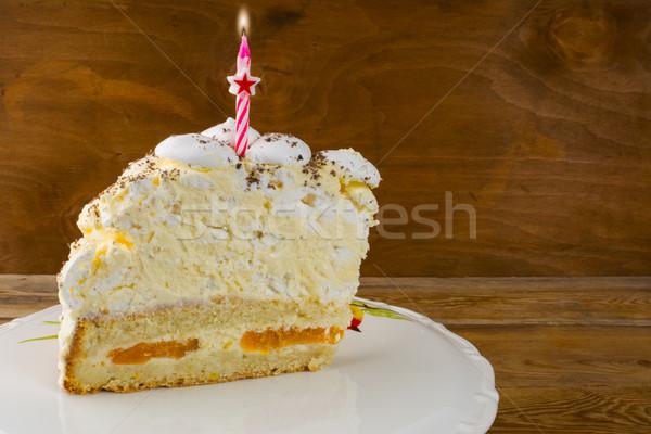 Birthday cake invitation mockup Stock photo © TasiPas