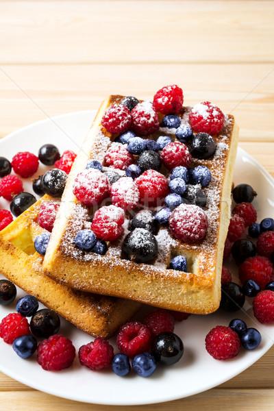 Caseiro café da manhã framboesa fresco Foto stock © TasiPas