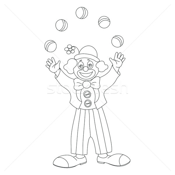 Circus vector clown juggler doodle style Stock photo © TasiPas