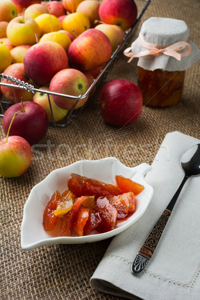 Homemade apple slices confiture Stock photo © TasiPas