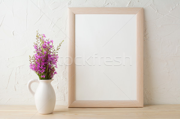 Marco púrpura flores silvestres ramo retrato Foto stock © TasiPas