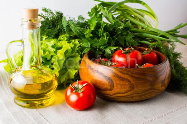 健康的な食事 夏 野菜 オリーブオイル 新鮮な野菜 精進料理 ストックフォト © TasiPas
