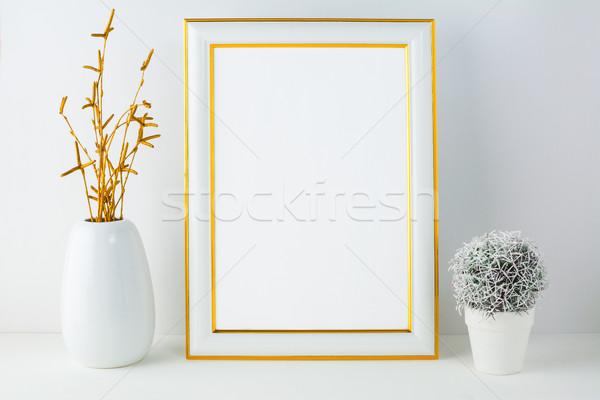 Cadre faible cactus affiche produit Photo stock © TasiPas