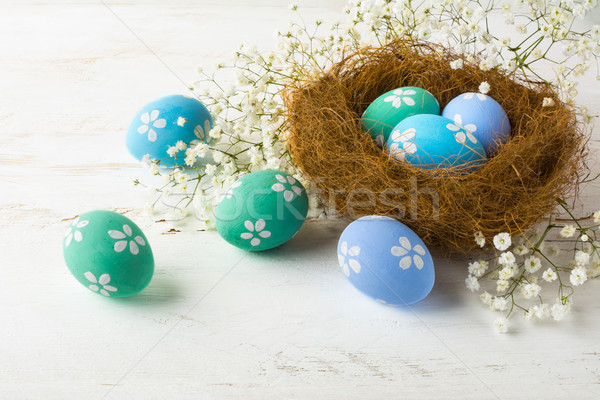 Pastel colored Easter eggs Stock photo © TasiPas