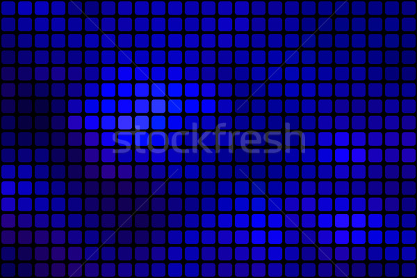 Dark blue abstract rounded mosaic background over black Stock photo © TasiPas