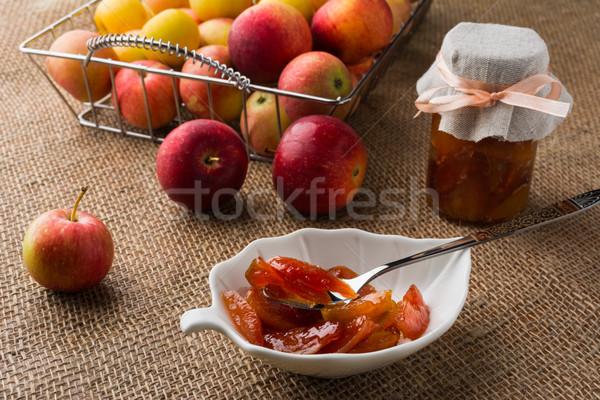 Homemade apple slices marmalade Stock photo © TasiPas