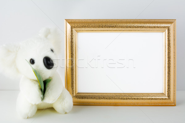 Nursery mockup with white bear Stock photo © TasiPas