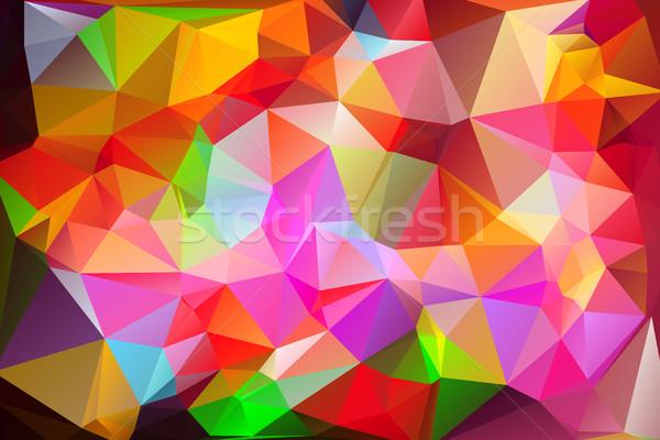 élénk tarka alacsony szivárvány absztrakt terv Stock fotó © TasiPas