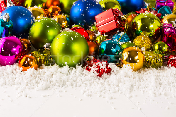 Рождества орнамент синий красный желтый Сток-фото © TasiPas