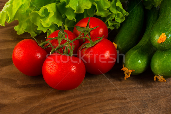 Healthy eating concept with cherry tomato  Stock photo © TasiPas