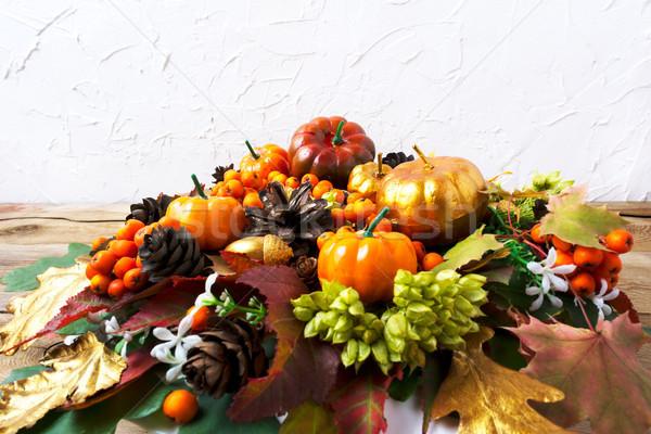 Photo stock: Action · de · grâces · accueil · laisse · table · automne