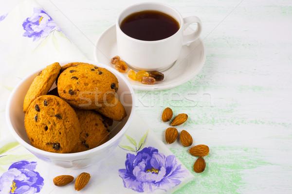 Doce bolinhos amêndoa sobremesa caseiro Foto stock © TasiPas