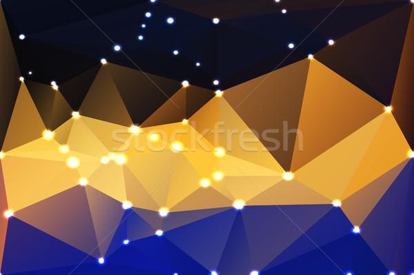 Bleu jaune orange noir géométrique lumières Photo stock © TasiPas