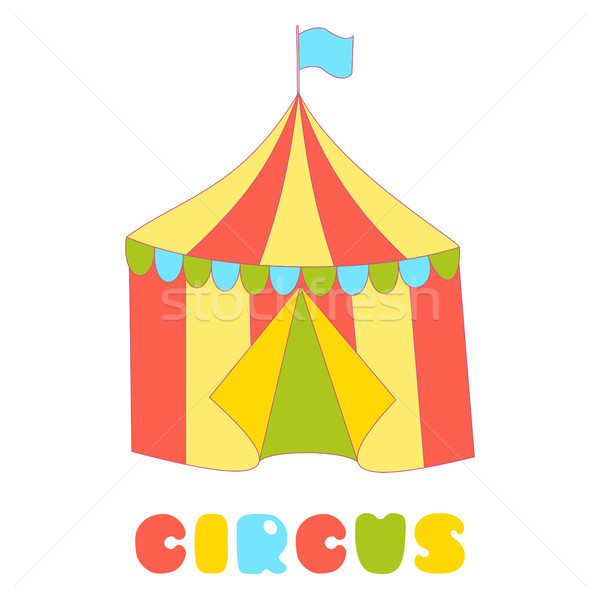 Circus tent isolated on the white background Stock photo © TasiPas