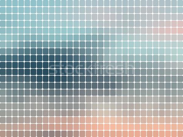 Sunset abstract rounded mosaic background  Stock photo © TasiPas