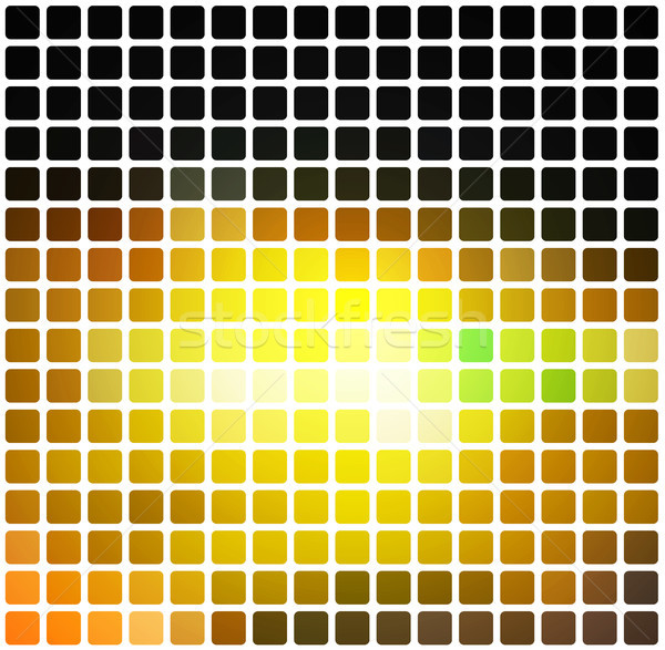Siyah kahverengi sarı yeşil mozaik beyaz Stok fotoğraf © TasiPas